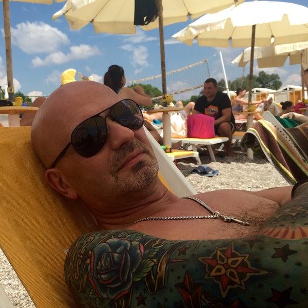 Photo taken at Spiaggia Di Fondachello by Don Vito on 8/13/2015