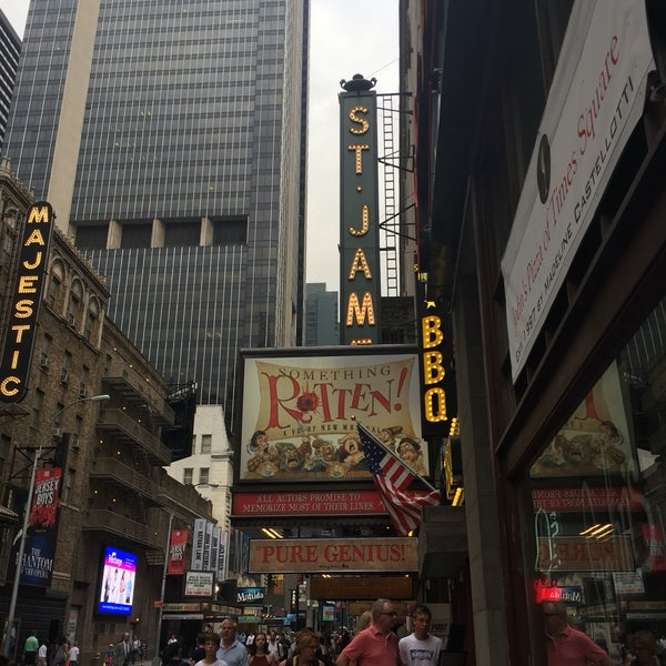 Photo taken at St. James Theatre by JoEllen E. on 8/1/2016