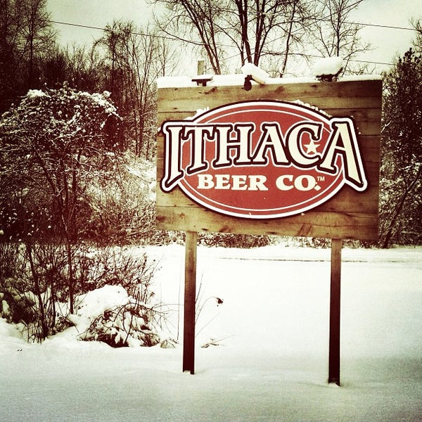 Photo taken at Ithaca Beer Co. Taproom by Amy E. on 2/9/2013