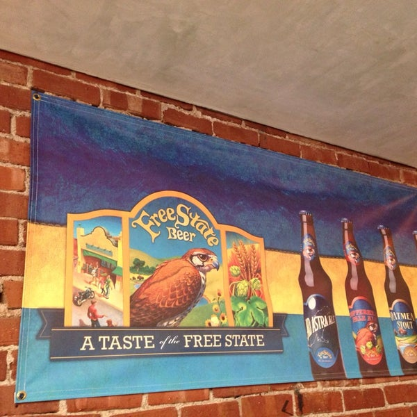 Photo taken at Free State Brewing Company by Mako on 4/6/2014
