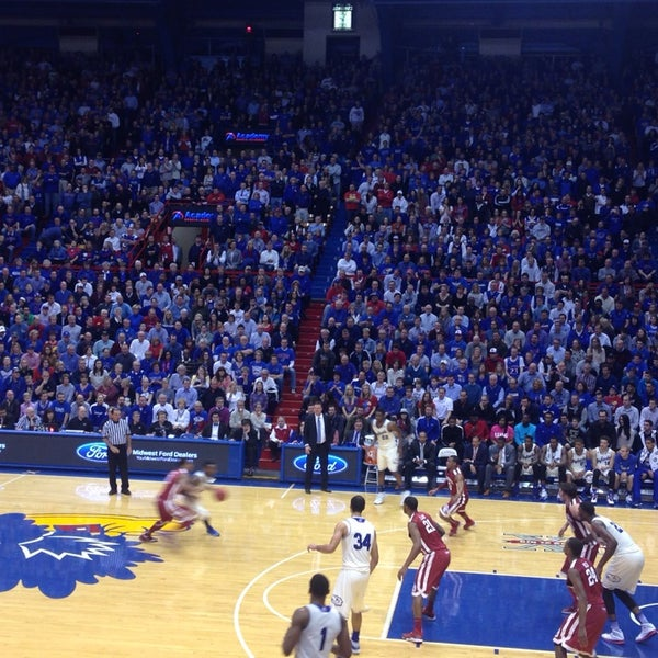 Photo taken at Allen Fieldhouse by meaghan h. on 2/25/2014