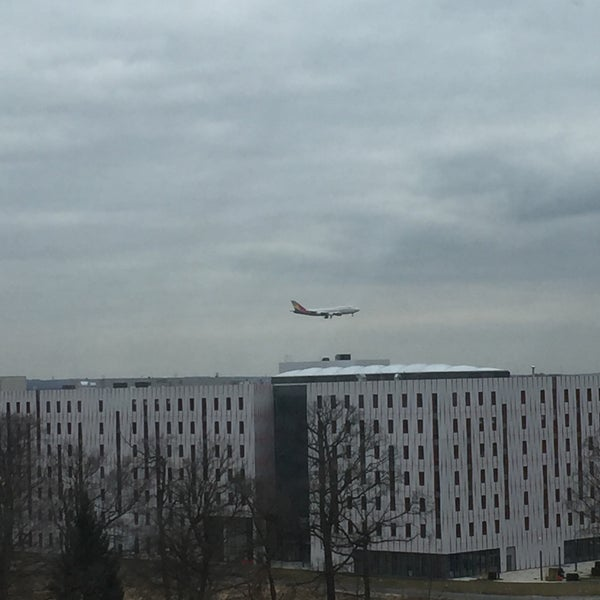 Photo taken at Steigenberger Airport Hotel by Max Z. on 3/20/2016