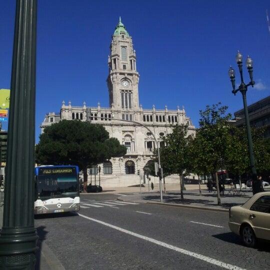 Photo taken at Avenida dos Aliados by Rafael E. on 2/7/2013