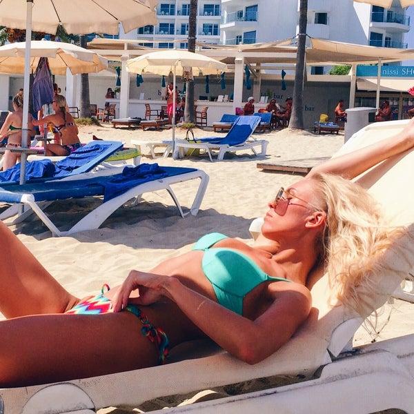 Photo taken at Makronissos beach by Арина Р. on 8/28/2016