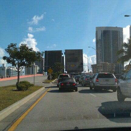 Photo taken at Waiting For The Hallandale Bridge by Angelo F. on 2/7/2013