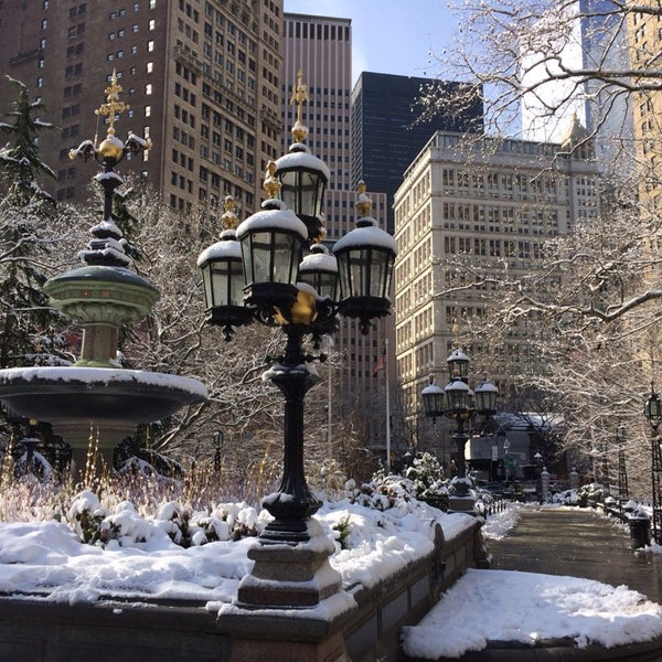 Photo taken at City Hall Park by Eugene K. on 2/4/2014