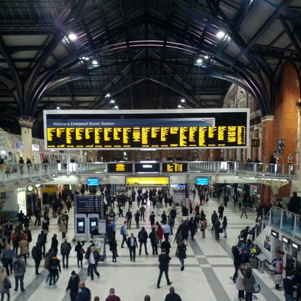 Photo taken at London Liverpool Street Railway Station (LST) by Roman K. on 10/9/2012
