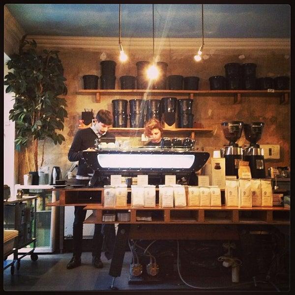 Photo taken at Bonanza Coffee Heroes by Sasha K. on 2/12/2013