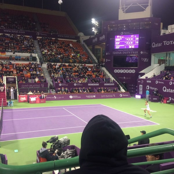 Photo taken at Qatar Tennis Federation by Aisha . on 2/16/2014