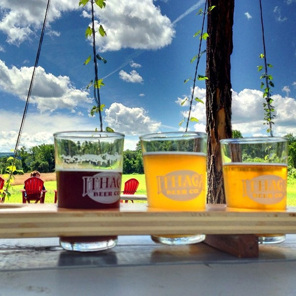 Photo taken at Ithaca Beer Co. Taproom by Ryan A. on 8/3/2013