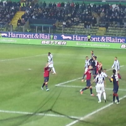 Photo taken at Stadio Ennio Tardini by Gian Marco R. on 12/21/2012