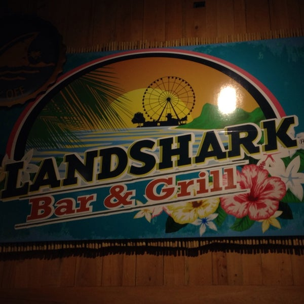 Photo taken at Landshark Bar & Grill by Jeff M. on 10/14/2013