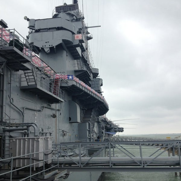 Photo taken at USS Lexington Museum On The Bay by Olik B. on 1/28/2013