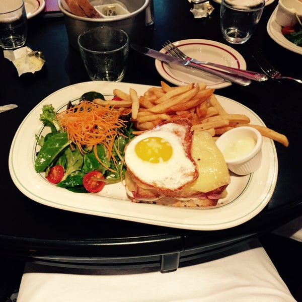 Cute spot, solid for a working lunch. The Croque Madame is not what you want to order if you're watching your calories.