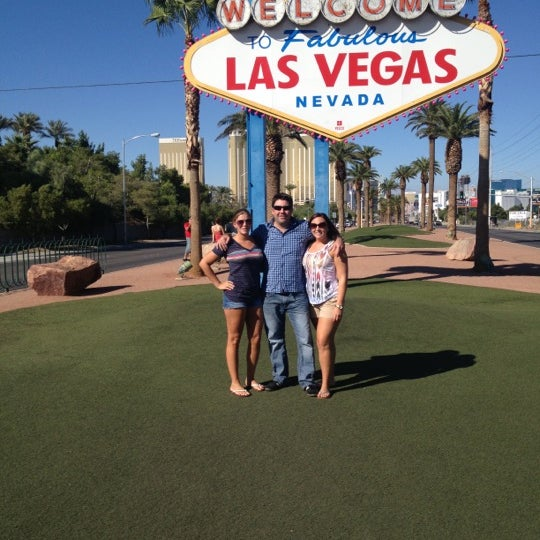 Photo taken at Welcome To Fabulous Las Vegas Sign by Sarah . on 10/21/2012