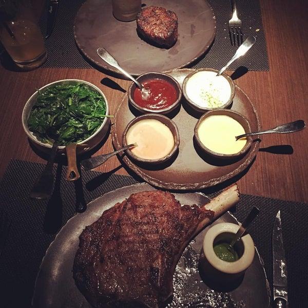 Photo taken at Jean Georges Steakhouse by Steve V. on 10/10/2015