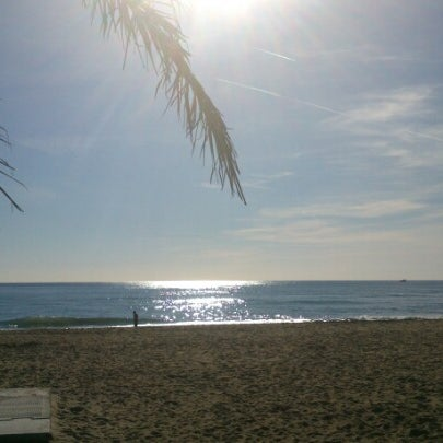 Photo taken at Platja de Calafell by Miquel Angel E. on 12/30/2012