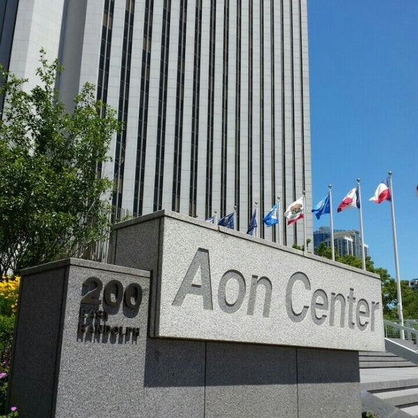 Photo taken at Aon Center by Márcio M. on 6/23/2016