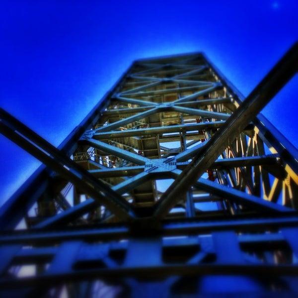 Photo taken at Rio Vista Bridge by Peter S. on 6/9/2014