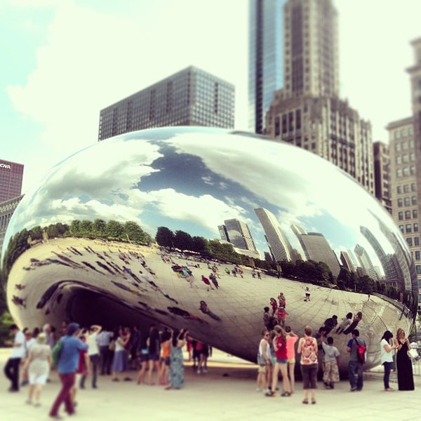 Photo taken at Cloud Gate by Patrick F. on 7/17/2013