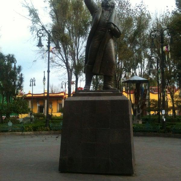 Photo taken at Jardín Hidalgo by Hector C. on 1/8/2013