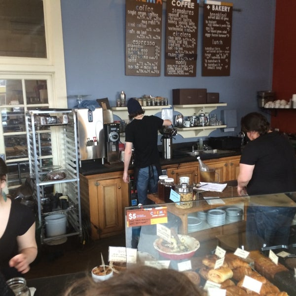 Photo taken at Crema Bakery and Cafe by James T. on 4/5/2014