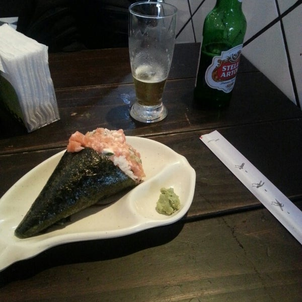Photo taken at Lins Sushi by Leandro C. on 2/4/2014