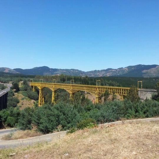 Photo taken at Monumento Nacional Puente Malleco by Nicolas V. on 2/5/2013