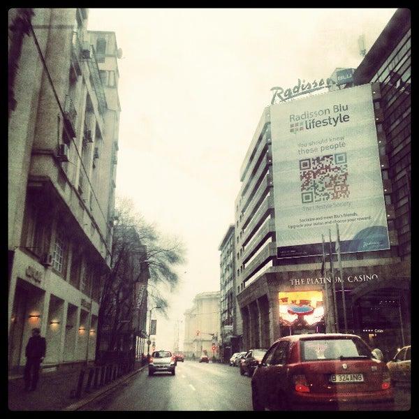 Photo taken at Radisson Blu by 📷 Costin C. on 2/11/2013
