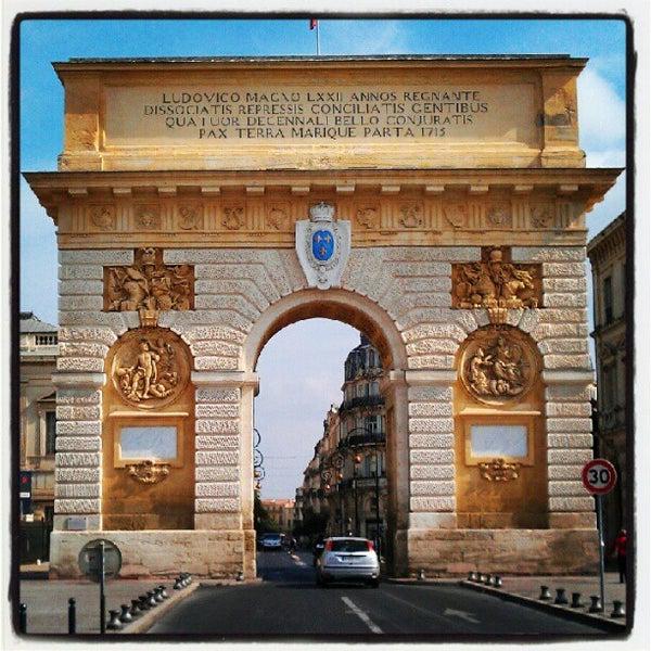 Arc de triomphe pr fecture montpellier languedoc roussillon - Arc de triomphe montpellier ...