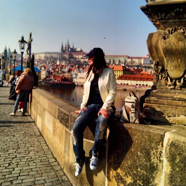 Photo taken at Karlův most | Charles Bridge by Lisa N. on 3/14/2014