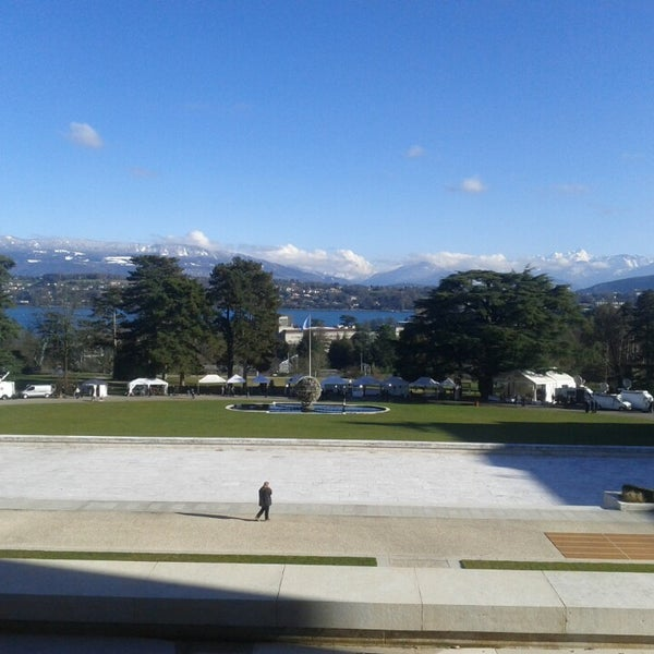 Photo taken at Palais des Nations by Brahms on 2/11/2014