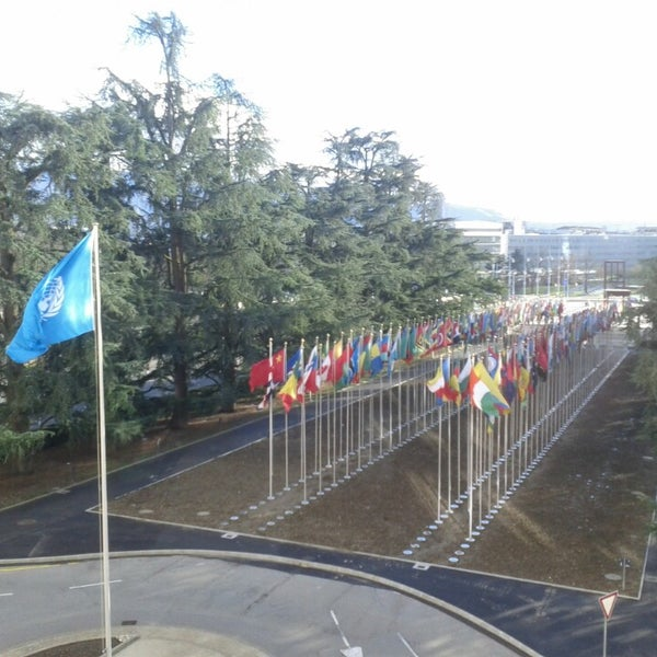 Photo taken at Palais des Nations by Brahms on 2/10/2014