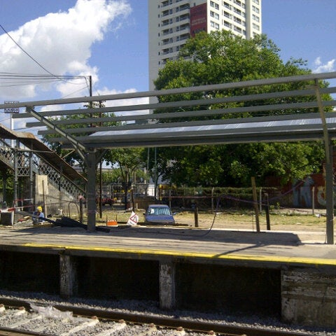 Photo taken at Estación Caballito [Línea Sarmiento] by Marian G. on 2/16/2013