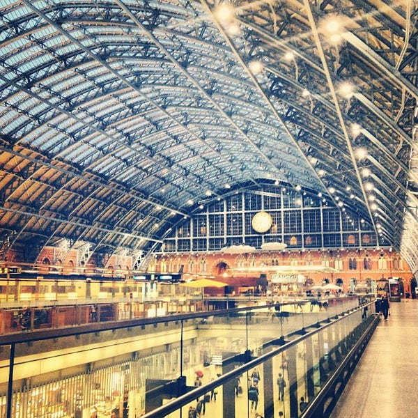 Photo taken at London St Pancras International Railway Station (STP) by Simon S. on 8/16/2013