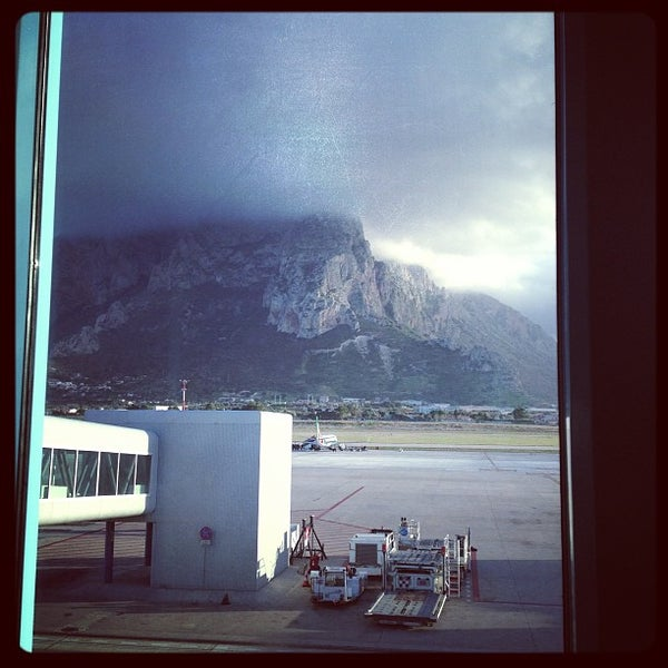 Photo taken at Palermo Airport (PMO) by Aaron on 1/5/2013