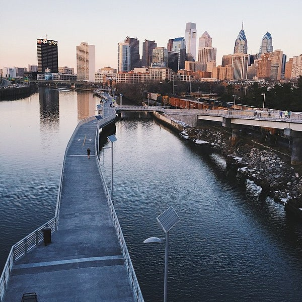 Photo taken at South Street Bridge by Andy O. on 3/10/2015