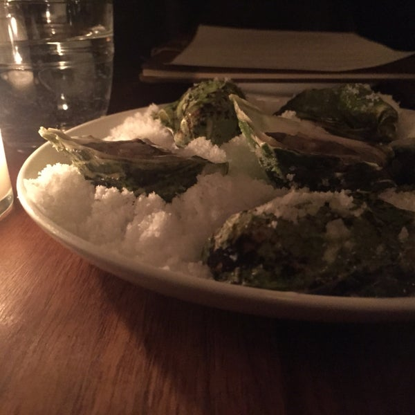 Everything is good here. Check out the oyster served on fluffy salt.