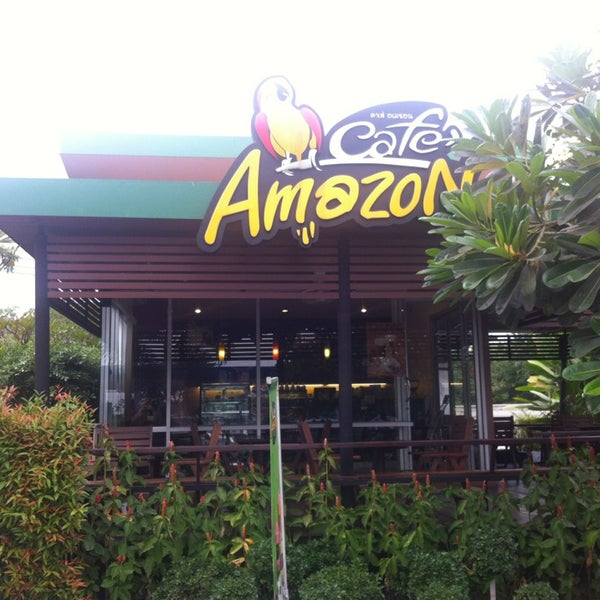 Photo taken at Cafe' Amazon @ PTT Pakthongchai by BeautifulPhuket on 1/28/2013