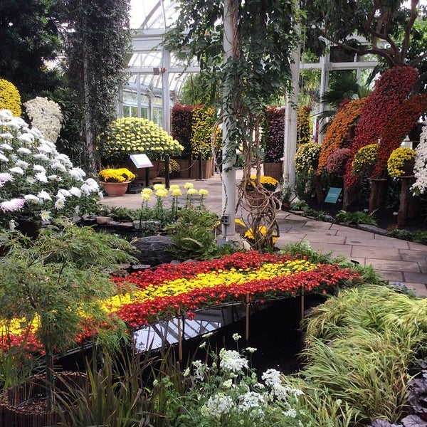 Photo taken at Enid A. Haupt Conservatory by Chris C. on 10/16/2014