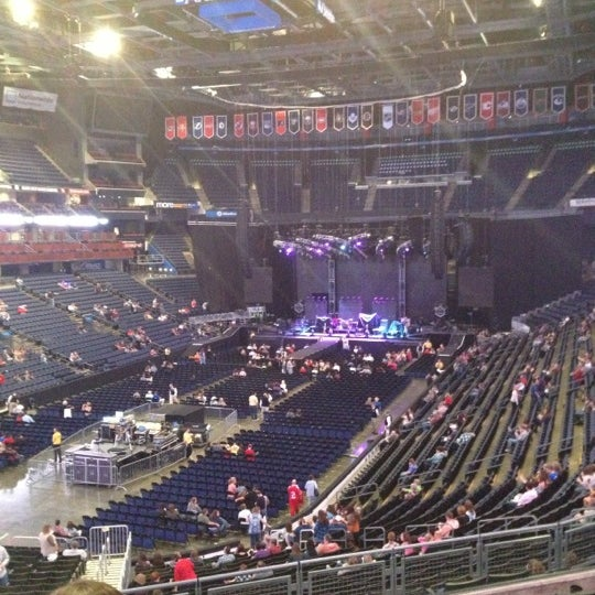 Photo taken at Nationwide Arena by Rachel on 10/5/2012
