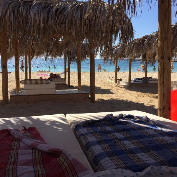 Photo taken at Makronissos beach by Denis B. on 9/18/2016