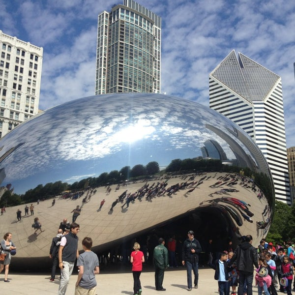 Photo taken at Cloud Gate by Michelle B. on 6/7/2013