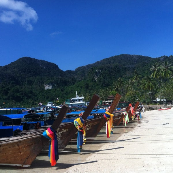 Photo taken at Phi Phi Island by Sophia on 2/4/2013