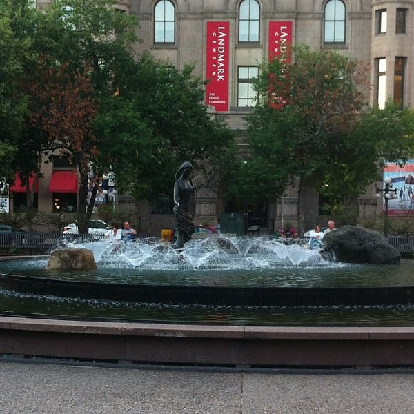 Photo taken at Rice Park by Melanie on 9/12/2013