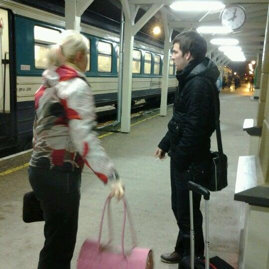 Photo taken at Tartu Raudteejaam by Inge G. on 1/1/2013
