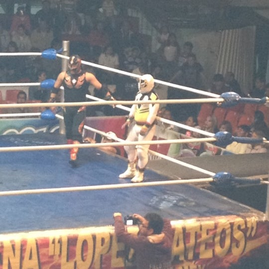 Photo taken at Arena Adolfo Lopez Mateos by Gerardo G. on 7/1/2012