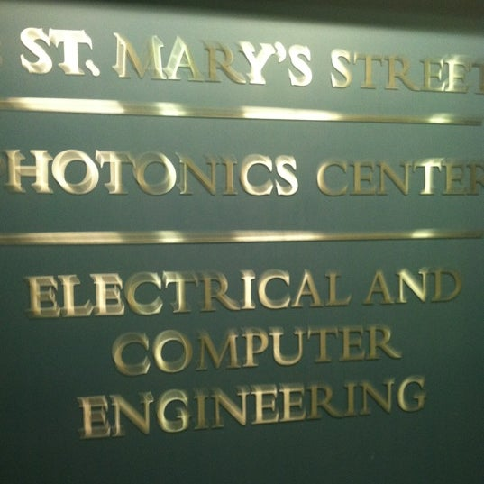 Photo taken at Boston University Photonics Center by michael p. on 2/14/2012