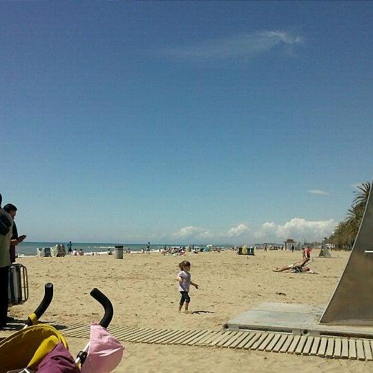 Photo taken at Platja de Calafell by José R. L. on 5/1/2012