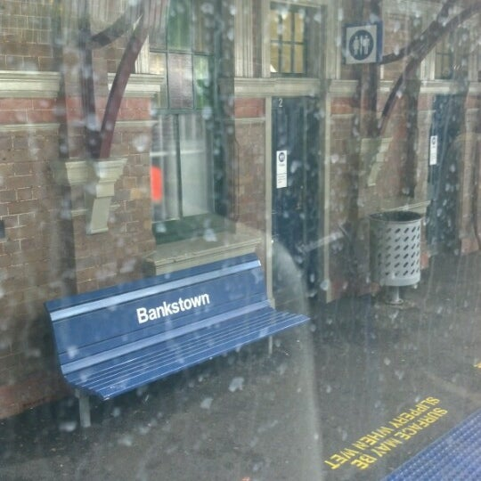 Photo taken at Bankstown Station by Kim on 10/21/2012